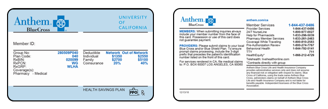 Get ID Cards | University of California PPO Plans